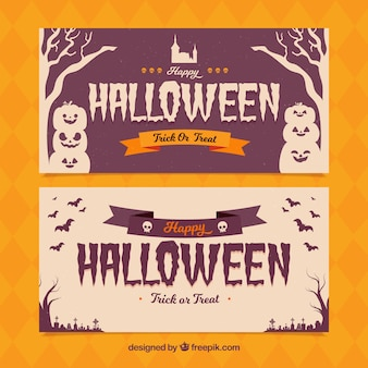 Halloween banners with elegant style
