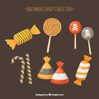 Halloween candies with classic style