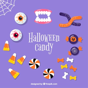 Halloween candies with creepy style