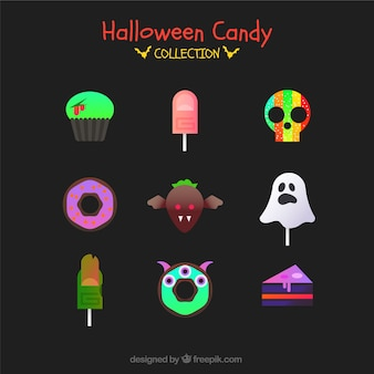 Halloween candies with modern style