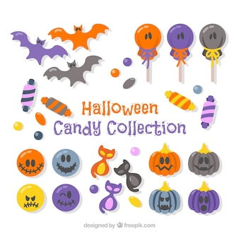 Halloween candy collection with fun style