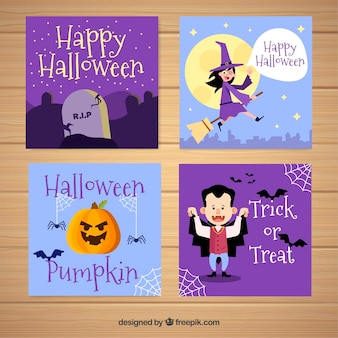 Halloween cards with lovely style