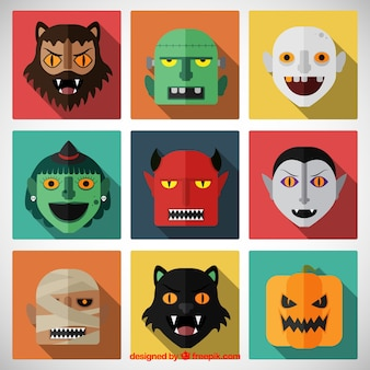 Halloween character faces