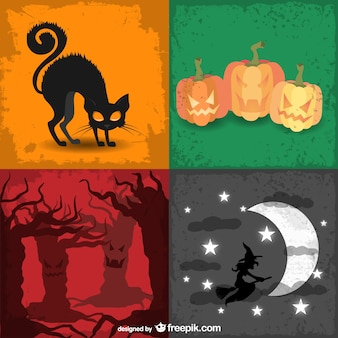 Halloween colorful backgrounds pack