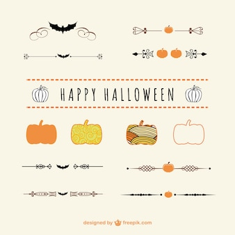 Halloween dividers and ornaments