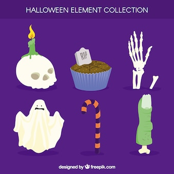 Halloween elements with beautiful style