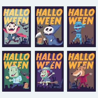 Halloween Holidays Invitation Or Greeting Card. Isolated artwork object. Suitable for and any print media need.
