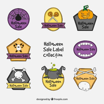 Halloween labels collection