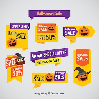 Halloween labels with special prices