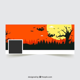Halloween landscape facebook cover