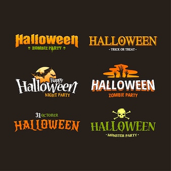 Halloween logos collection