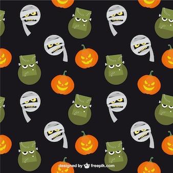 Halloween monsters pattern