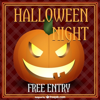 Halloween night party poster