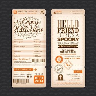 Halloween party invitation design