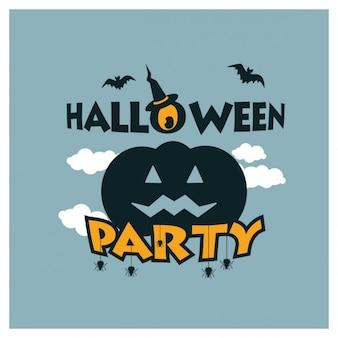 Halloween party of pumpkin background