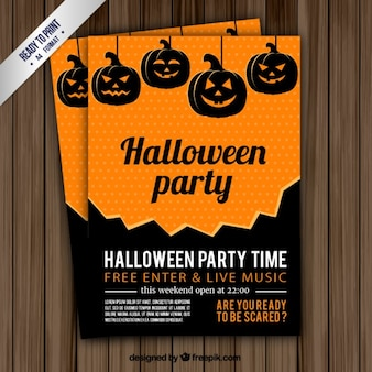 Halloween party time flyer