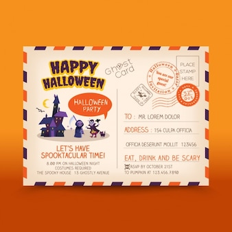 Halloween postcard design