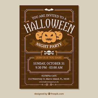 Halloween poster with vintage style