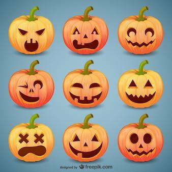 Halloween pumpkin smileys pack