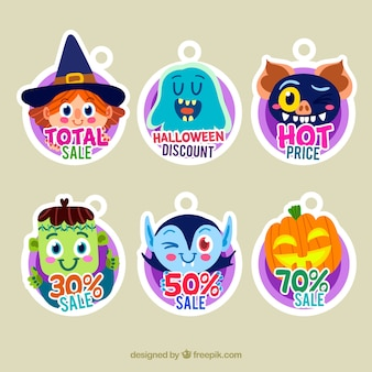 Halloween sale labels