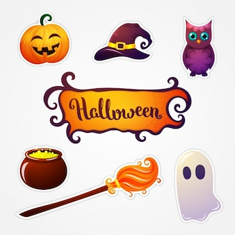 Halloween stickers collection