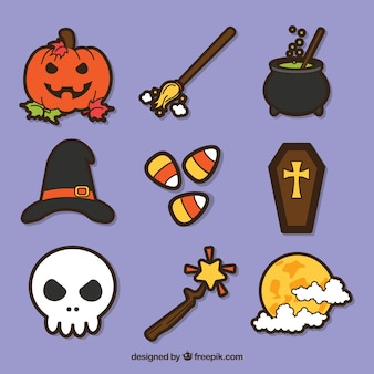 Halloween variety with colorful style