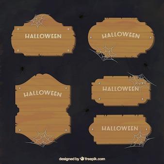 Halloween wooden labels