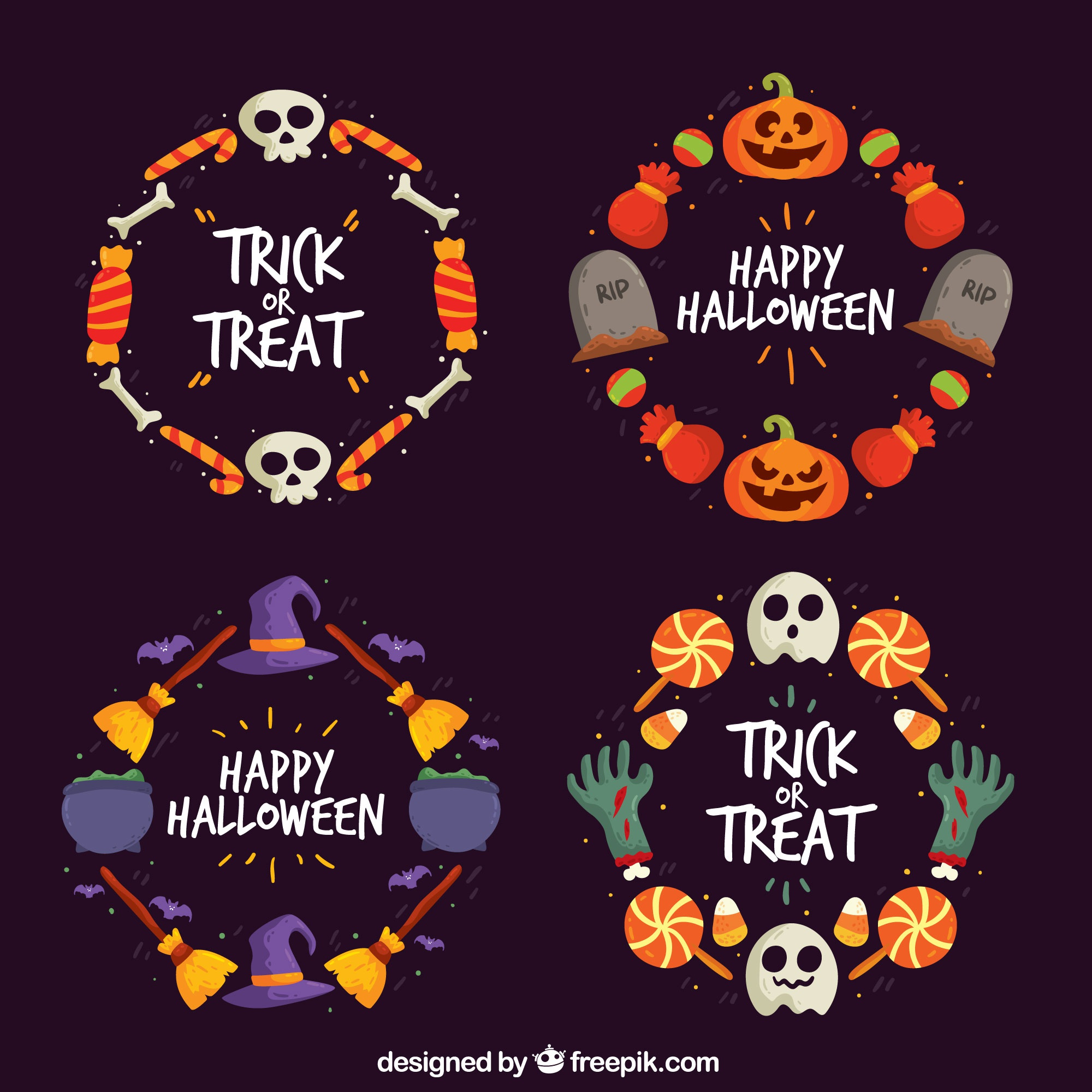 Halloween wreath collection
