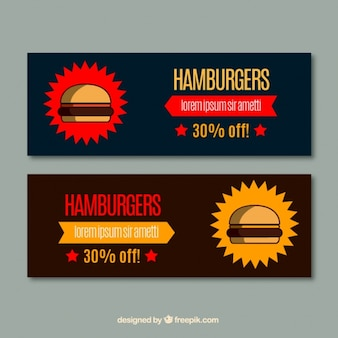 Hamburger banners collection