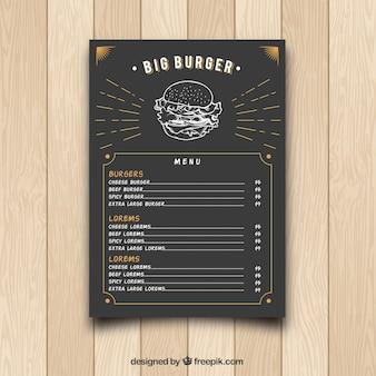 Hamburger vintage menu