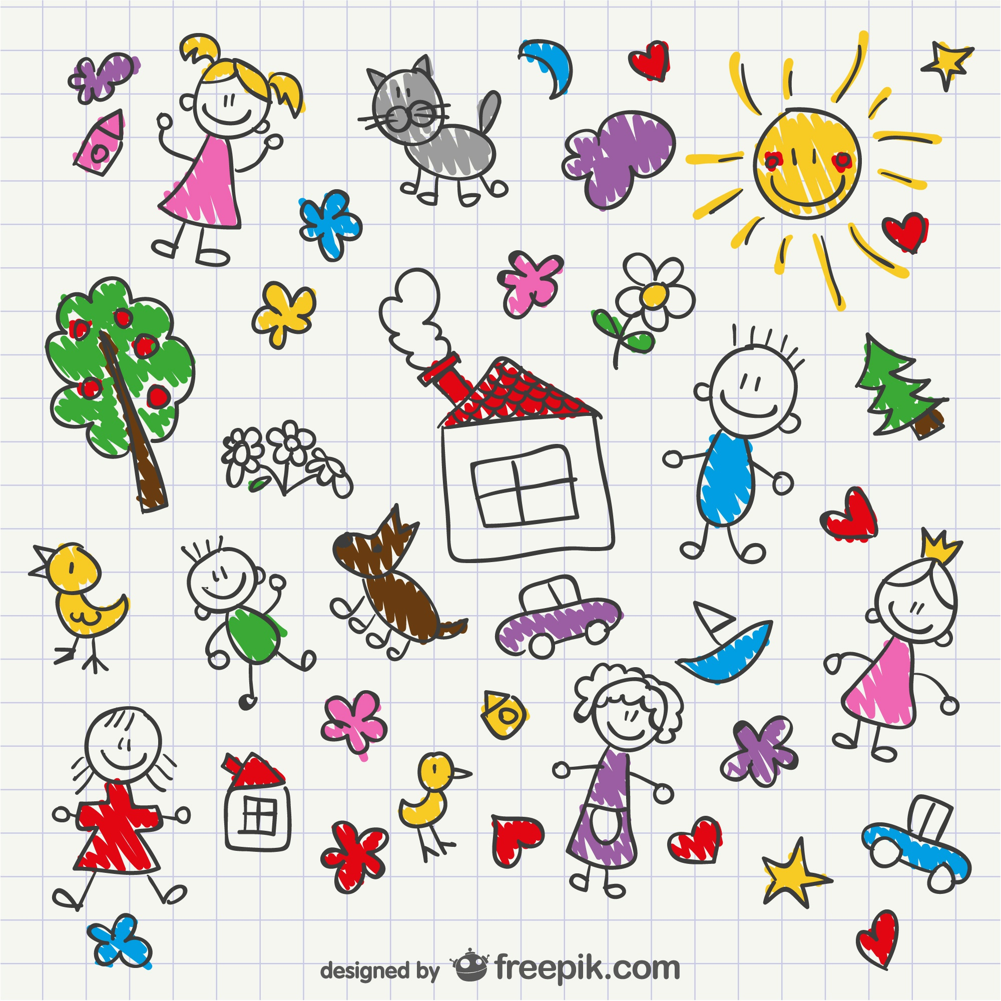 Hand drawing children style
