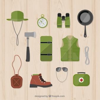 Hand drawn adventure accessories