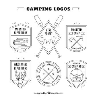 Hand drawn adventure shield logos