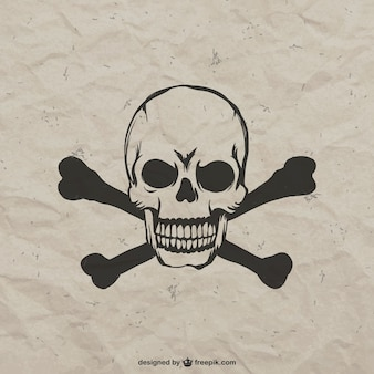 Hand drawn angry skull