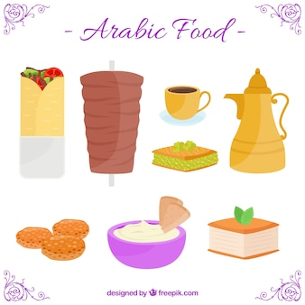 Hand drawn arabic gastronomy