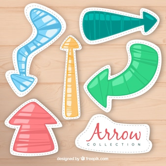 Hand drawn arrows with fun style