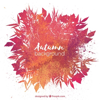 Hand drawn autumn background with modern style
