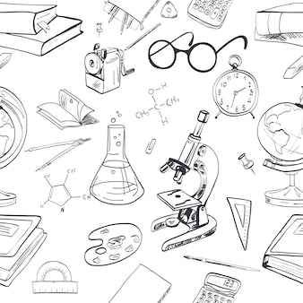 Hand drawn background about education