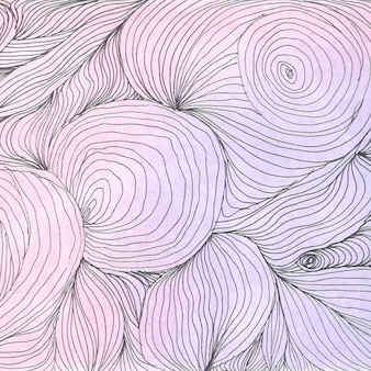 Hand drawn background with abstract lines