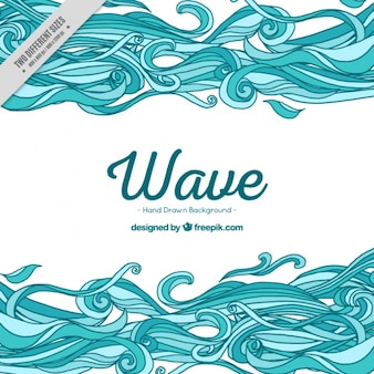 Hand-drawn background with wavy shapes