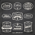 Hand drawn bakery badges