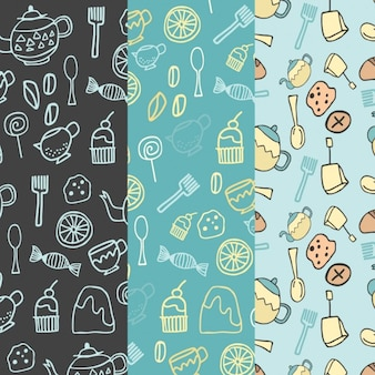 Hand Drawn Bakery Pattern Collection