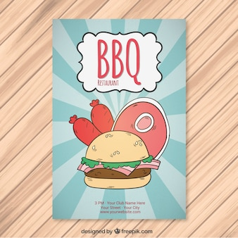 Hand drawn barbecue brochure