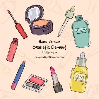 Hand drawn beauty elements