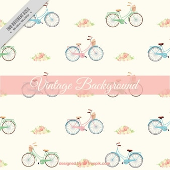 Hand drawn bicycle background in vintage style