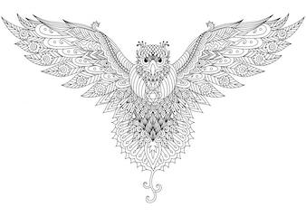 Hand drawn bird background