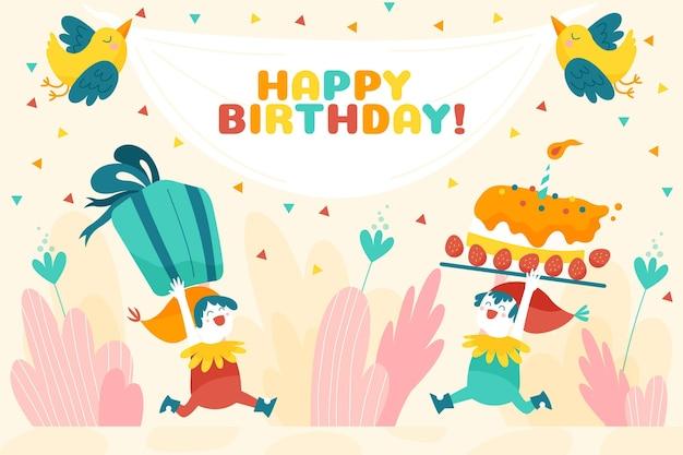 Hand drawn birthday background