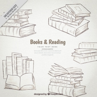 Hand drawn books set