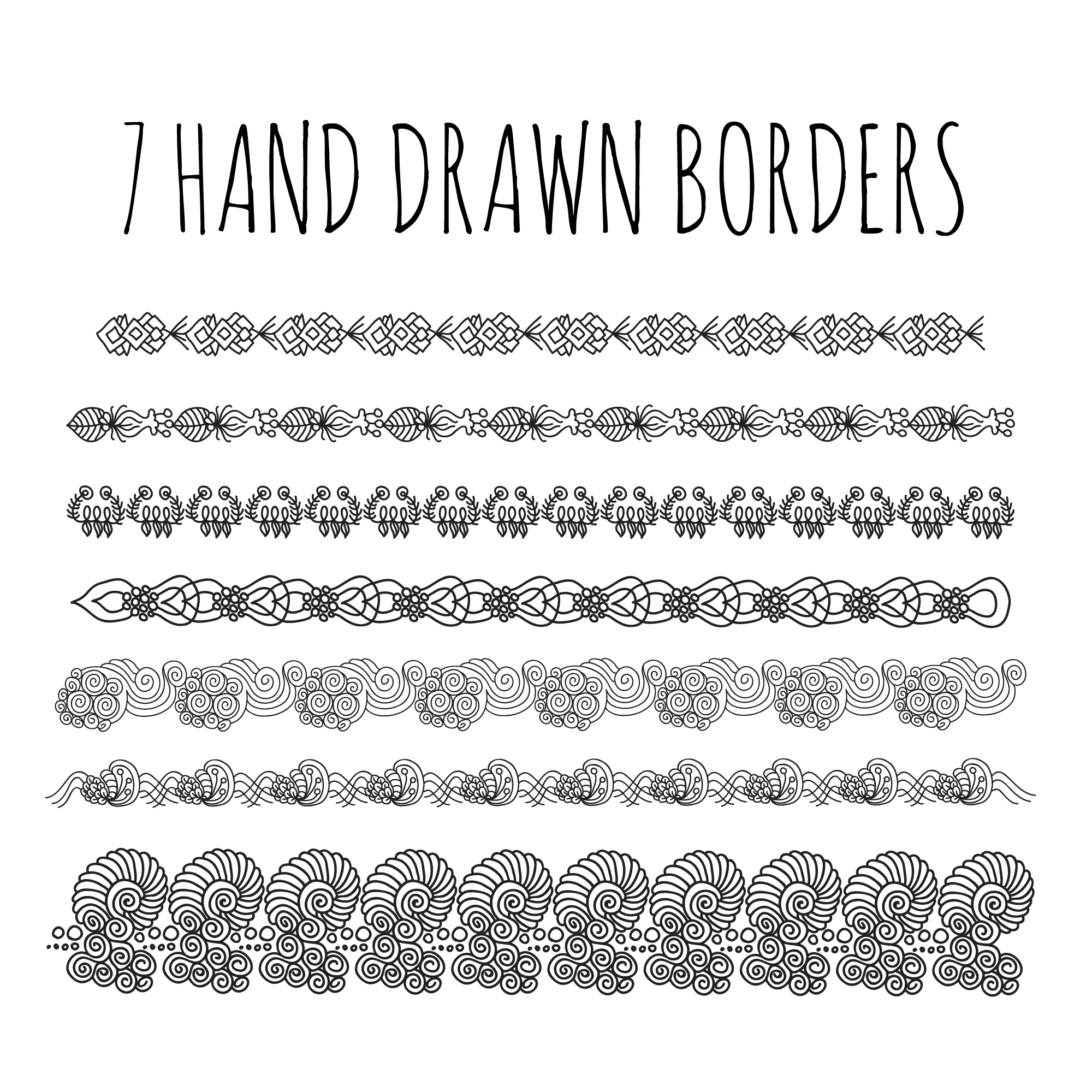 Hand drawn borders collection