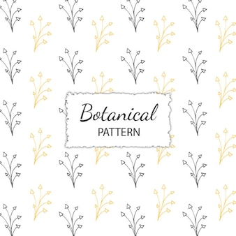 Hand Drawn Botanical Pattern Background